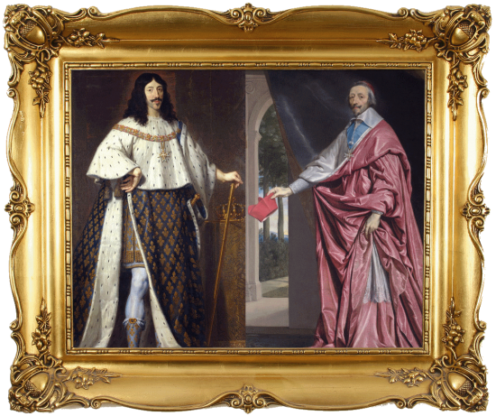 Louis XIII et le cardinal de Richelieu