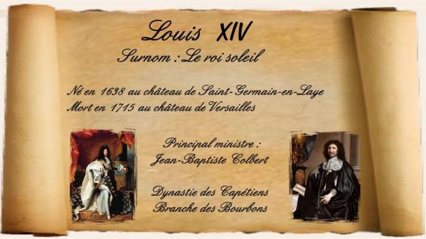 Louis XIV roi de France de 1643 à 1715