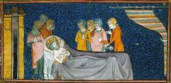 Mort de Saint Louis - Tunis 1270 - Enluminure du XVème siècle