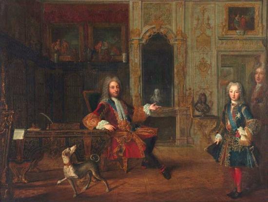 Philippe d'Orléans et Louis XV