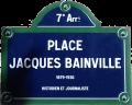 Place Jacques Bainville - Historien et journaliste, membre de l'académie Française - 1879 - 1936