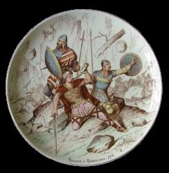 Bataille de Roncevaux 778 - Roland attaqué souffle dans son cor pour appeler Charlemagne à l'aide