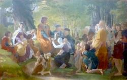 Saint Louis rendant la justice sous le chêne de Vincennes - Pierre-Narcisse Guérin