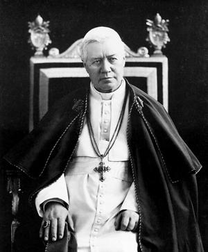 Saint-Pie X  - Pape de 1903 à 1914 - Canonisé en 1954 par Pie XII