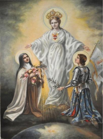 Sainte Marie, Sainte Jehanne d'Arc, Sainte Thérèse