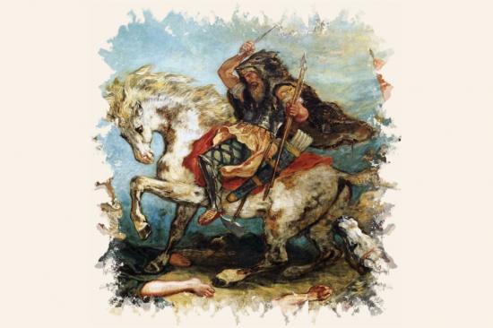 Attila par Eugène Delacroix
