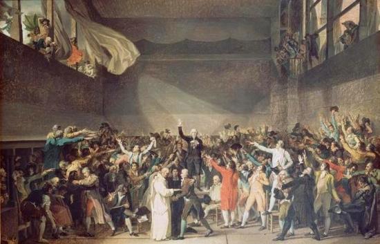 Serment du jeu de paume par Jacques Louis David