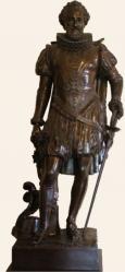 Statue de Henri IV au château de Pau