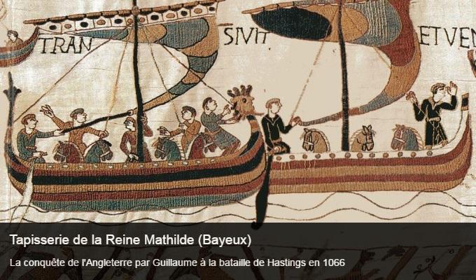 Cliquez sur l'image pour accéder à la fiche sortie de la tapisserie de la Reine Mathilde