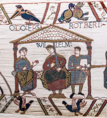 Tapisserie de la reine Mathilde dite tapisserie de Bayeux - Guillaume le Conquérant entouré de ses demi-frères Odon et Robert