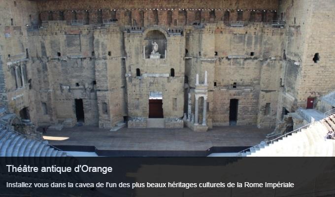 Cliquez sur l'image pour accéder à la fiche sortie du théâtre antique d'Orange