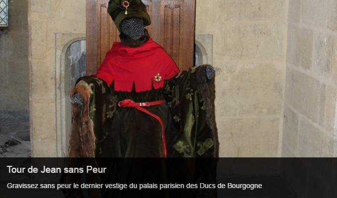 Cliquez sur l'image pour accéder à la fiche sortie de la tour de Jean sans Peur