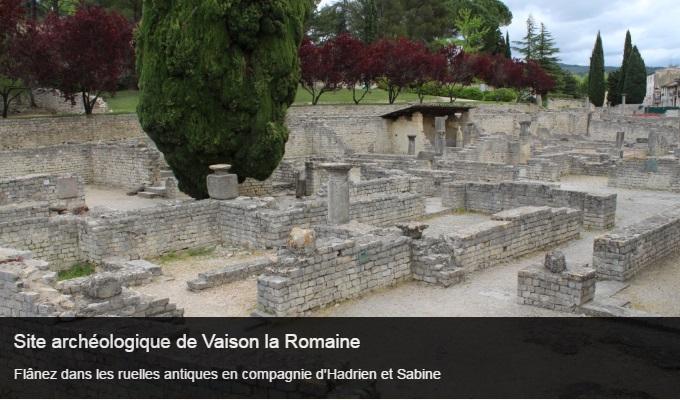 Cliquez sur l'image pour accéder à la fiche sortie du site archéologique de Vaison la Romaine