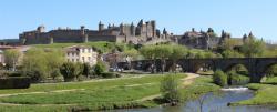 Vue panoramique sur la cité médiévale de Carcassonne
